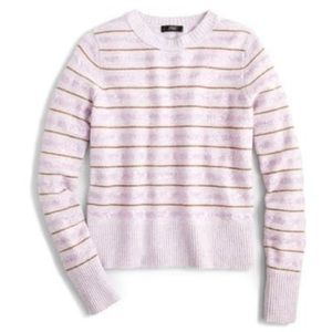 J. Crew Sequin Stripe Supersoft Yarn Sweater